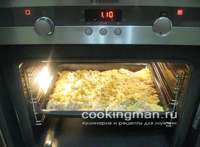 Картофель с куриной грудкой запеченный под сыром - рецепт пошаговый с фото