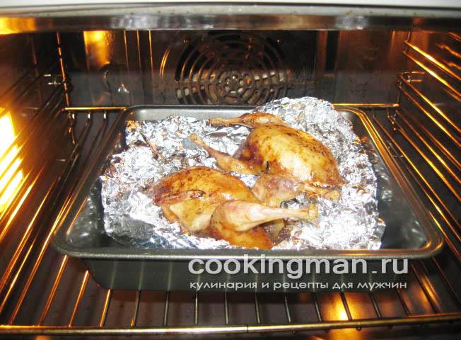 рецепт перепелов в духовке в рукаве
