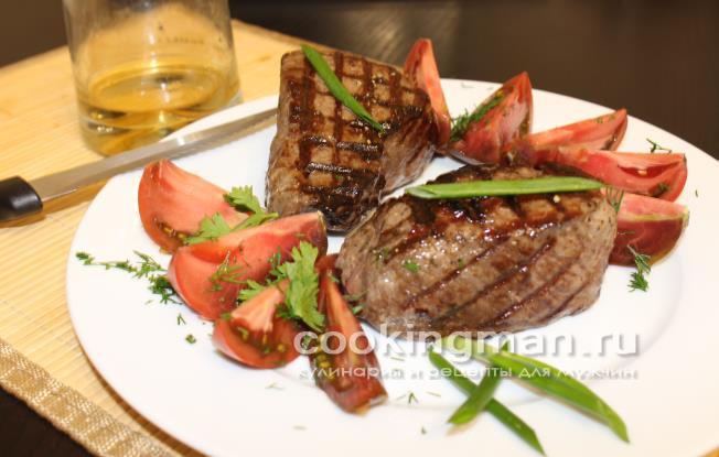 рецепт жарки стейка-филе миньон говядины