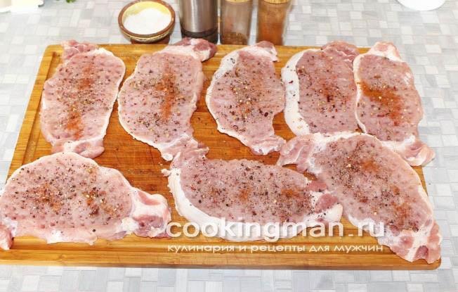 отбивные из свинины рецепт