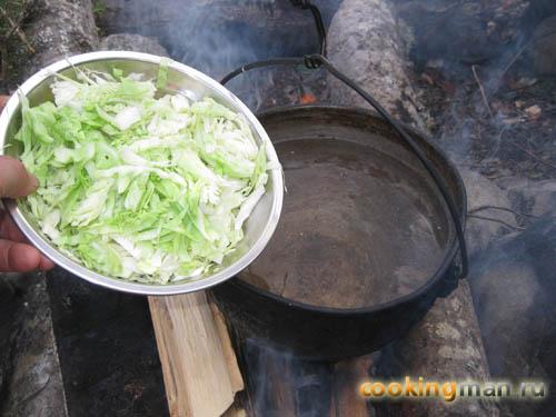 борщ рецепт с тушенкой и свежей капустой