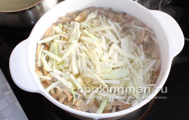 Щи постные со свежей капустой рецепт