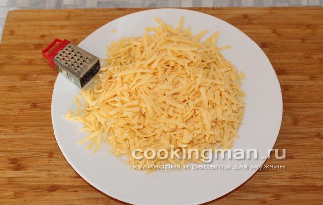 рецепт блины фаршированные сыром и ветчиной