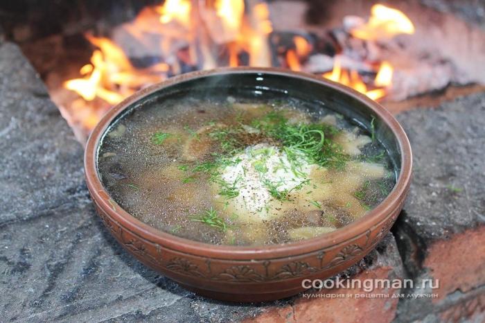 рецепт суп из грибов подосиновиков в