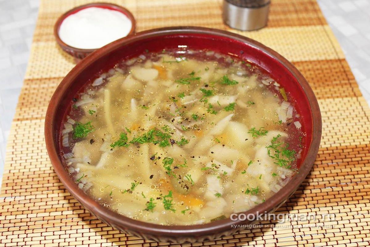 как приготовить суп из вешенок