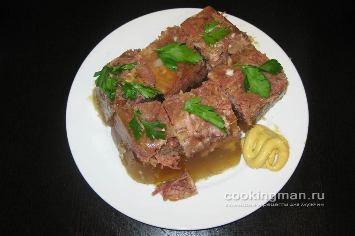 сварить холодец дома из свиных ножек и говядины