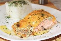 Кета в духовке - вкусные рецепты приготовления запеченных стейков или котлет из рыбы с фото