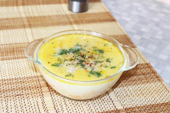 рецепт сырный суп из курицы