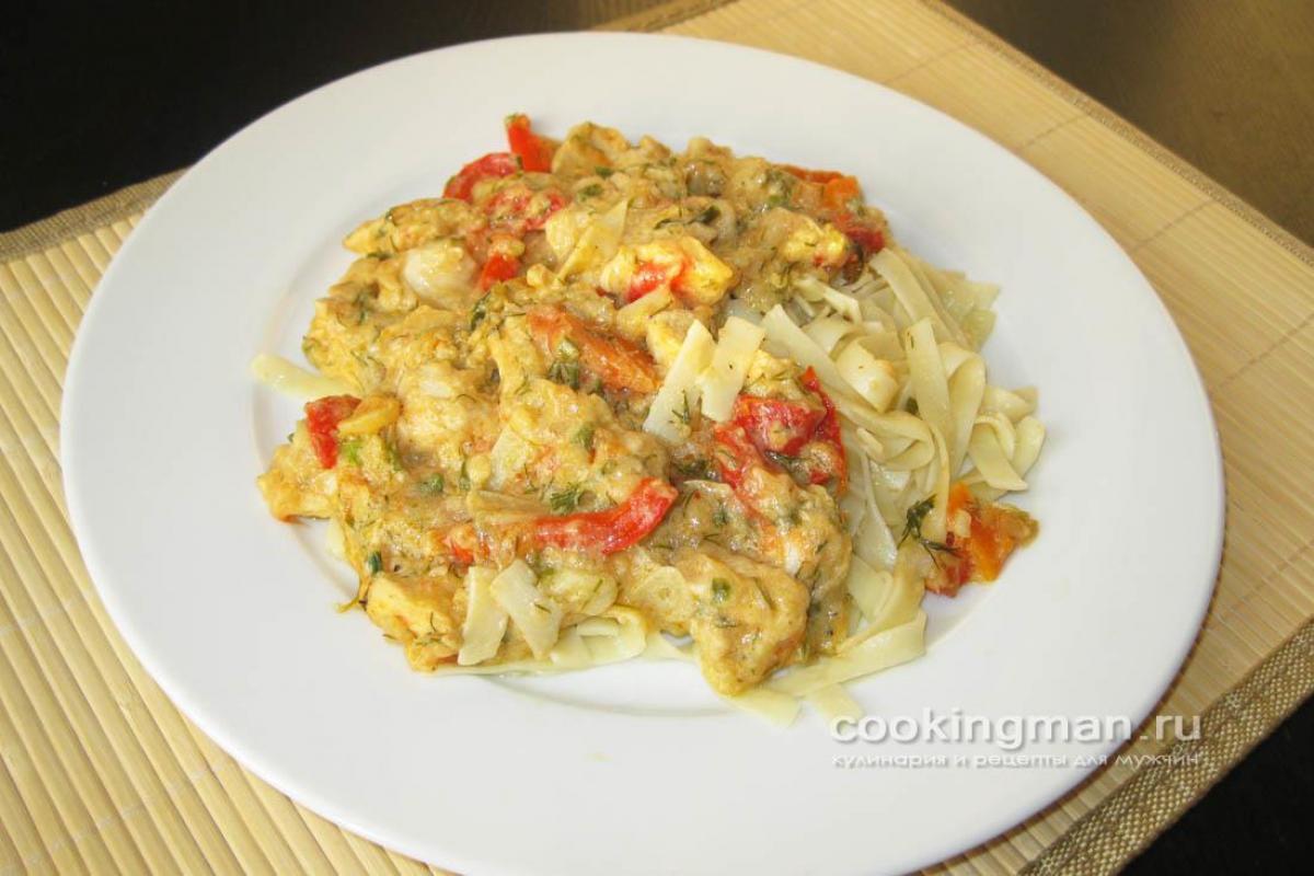Фрикасе из курицы классический рецепт с овощами