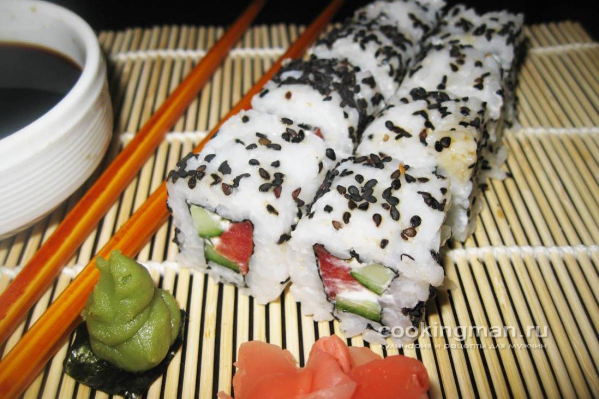 роллы с лососем и сыром фета рецепт