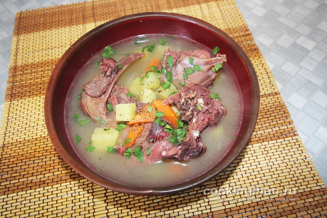 Суп из зайца с овощами