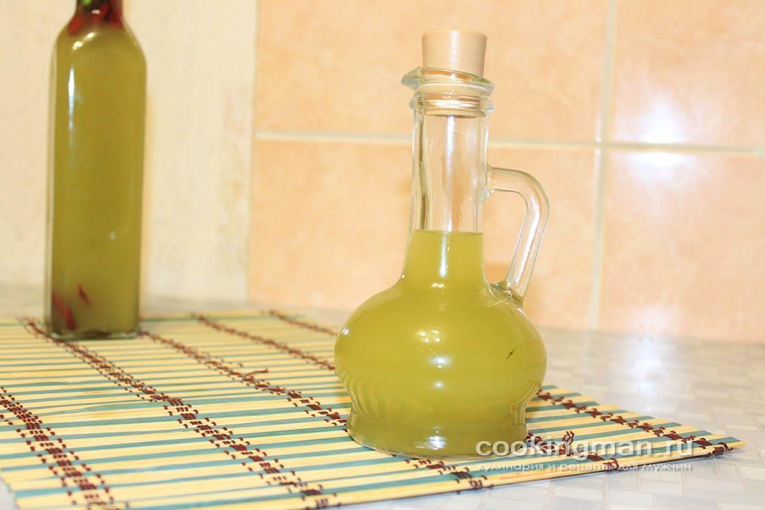 Ароматное масло с травами и чесноком (горячий способ)