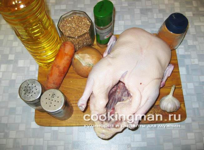 рецепт утка с гречневой кашей в духовке