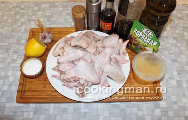 Рецепт вкусных крылышек в духовке фото