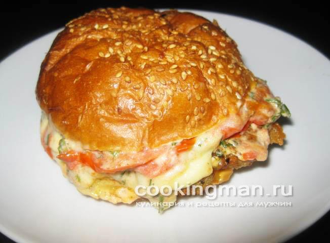 рецепты гамбургеров с котлетой и сыром