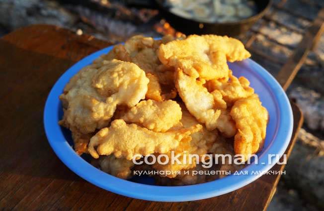 Рецепт филе судака в кляре
