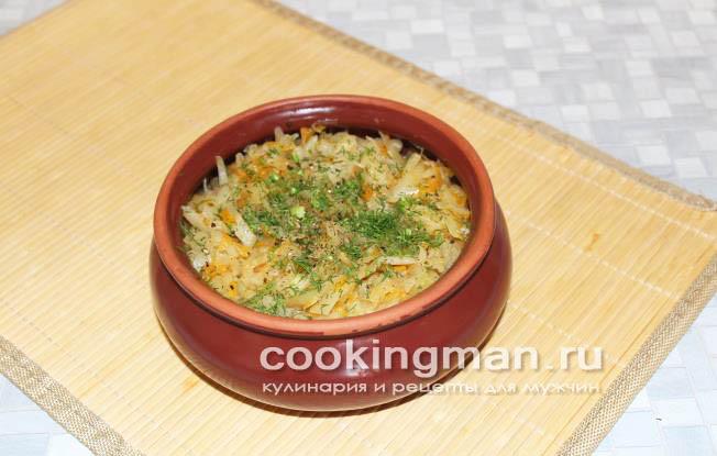 Тушеная капуста рецепт классический пошаговый рецепт