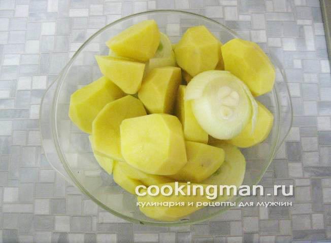 картошка на сале в духовке рецепт