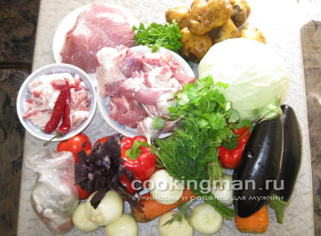 Баранина овощи слоями рецепт