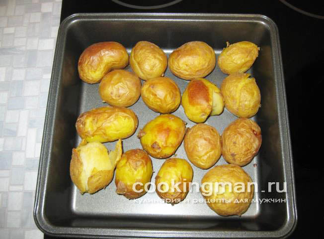 Запеченный целиком картофельы с фото в духовке