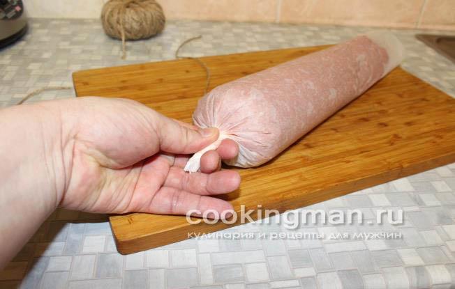 Как сделать вареную колбасу в домашних условиях по госту