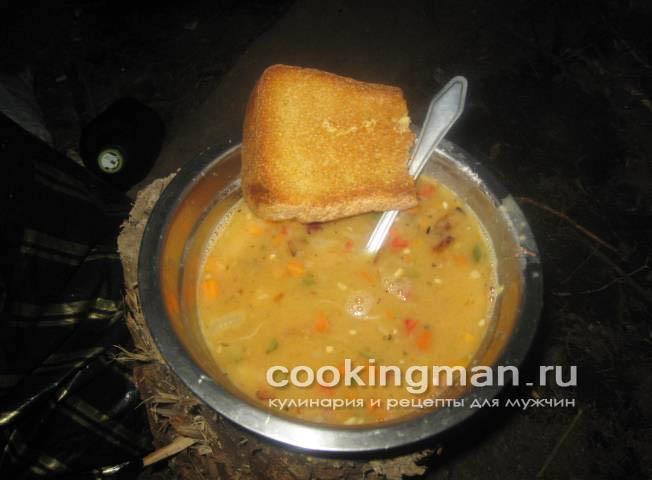 рецепт простого горохового супа с копченостями