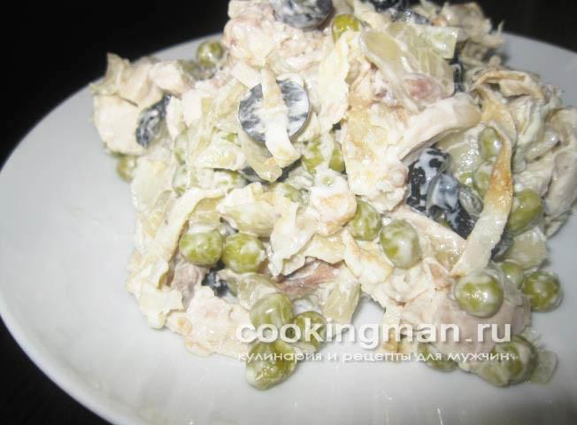 салаты с курицей рецепты с фото