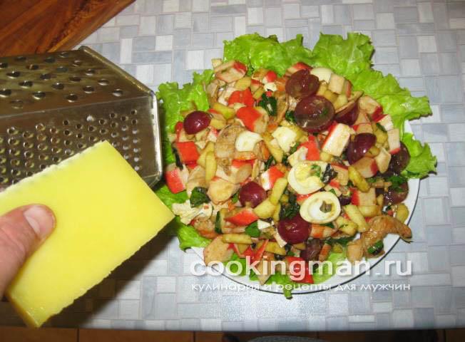 Салат с креветками и крабовыми палочками фото и