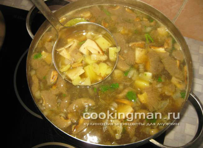 грибной суп рецепт суп из обабков