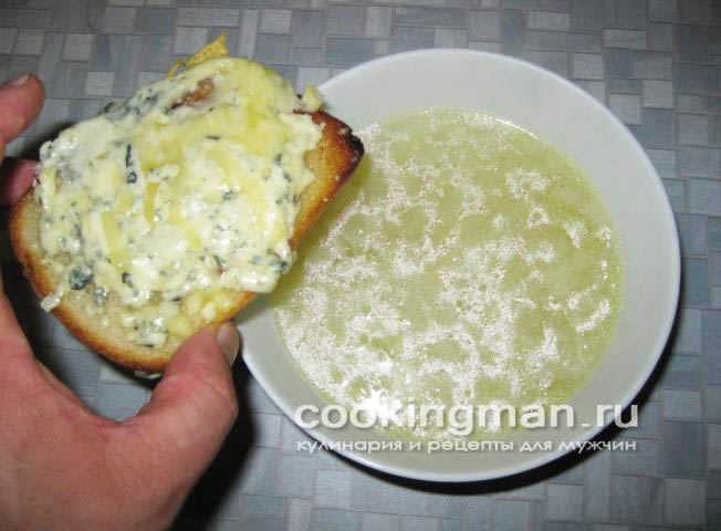 Пошаговый рецепт лукового супа