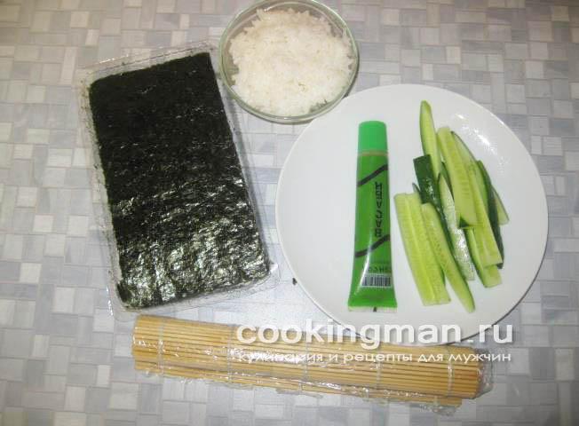Роллы с огурцом и сыром рецепт