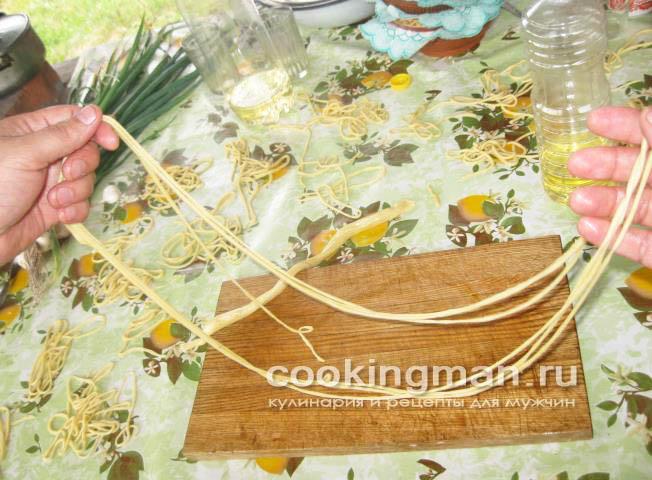 приготовление лапши для лагмана