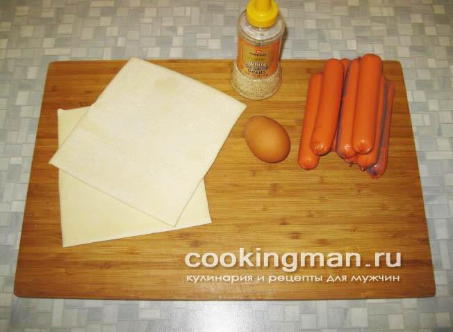 сосиски в тесте в микроволновке пошаговый рецепт с фото