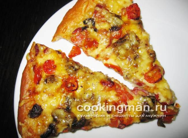 рецепт вкусной пиццы в духовке на кефире