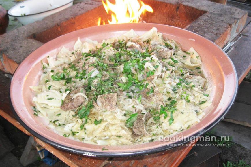 Бешбармак пошаговый рецепт с картошкой