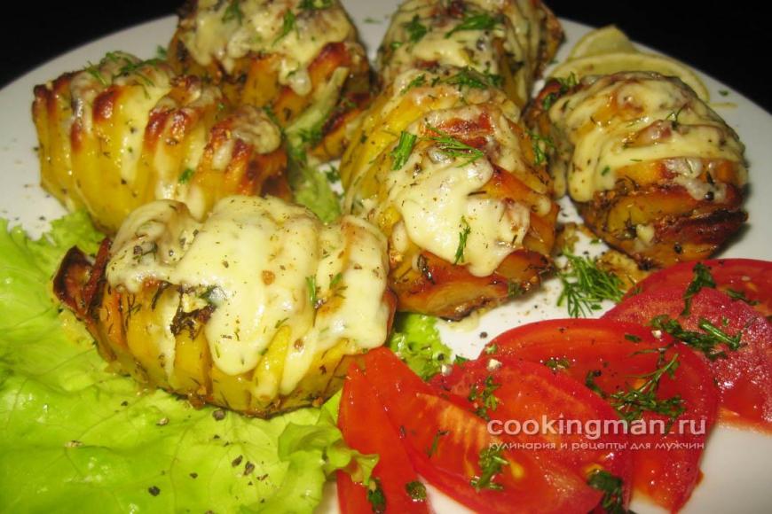 Картошка в духовке веером рецепт с пошагово