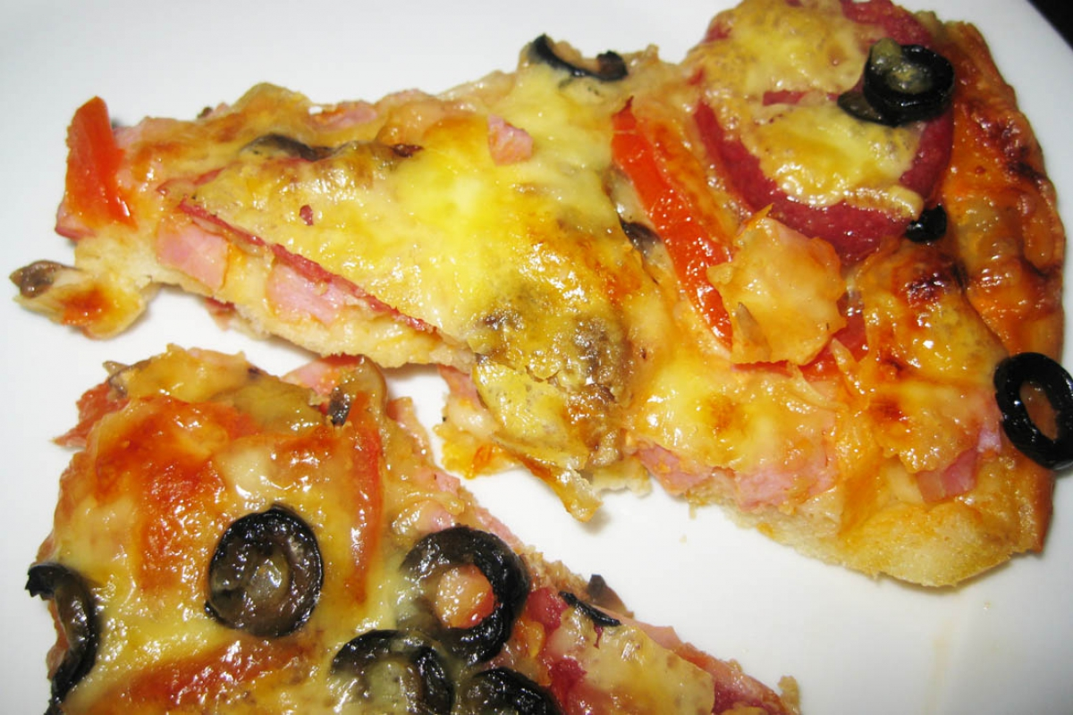рецепт пиццы на кефире фото