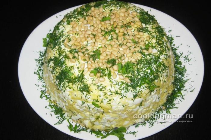 рецепт салата из горошка и яиц и соленых огурцов