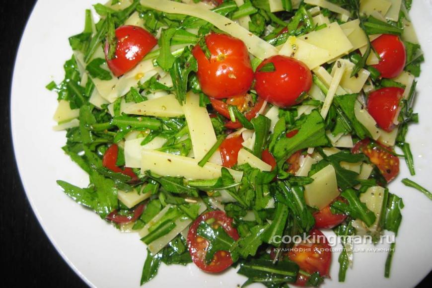 Вкусные и простые салаты с руколой