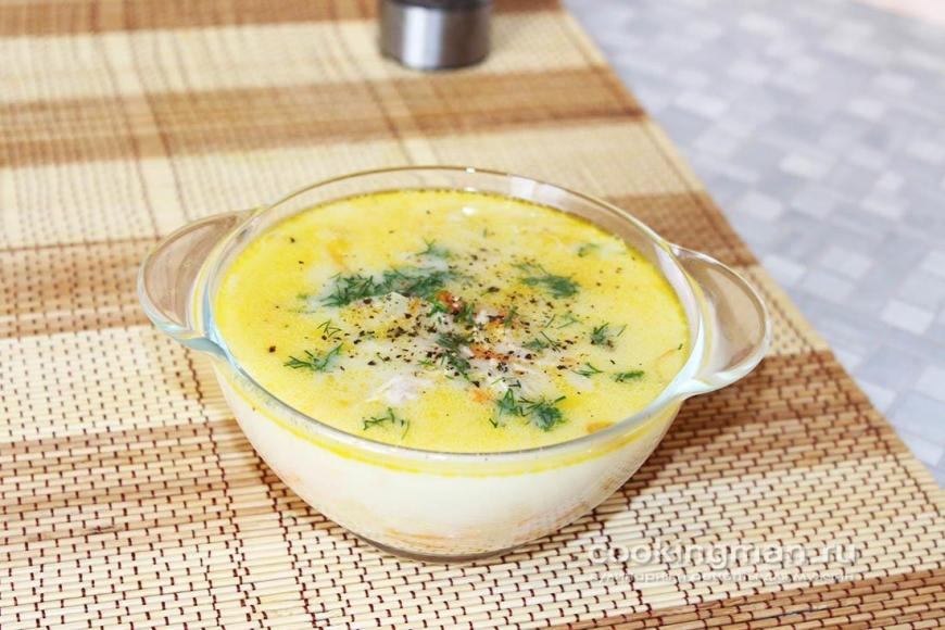 Сырный суп с курицы пошагово с