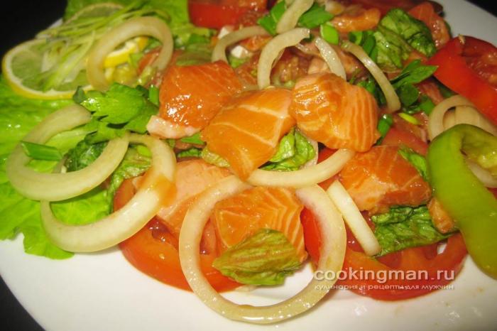 Салат со свежих овощей рецепт с