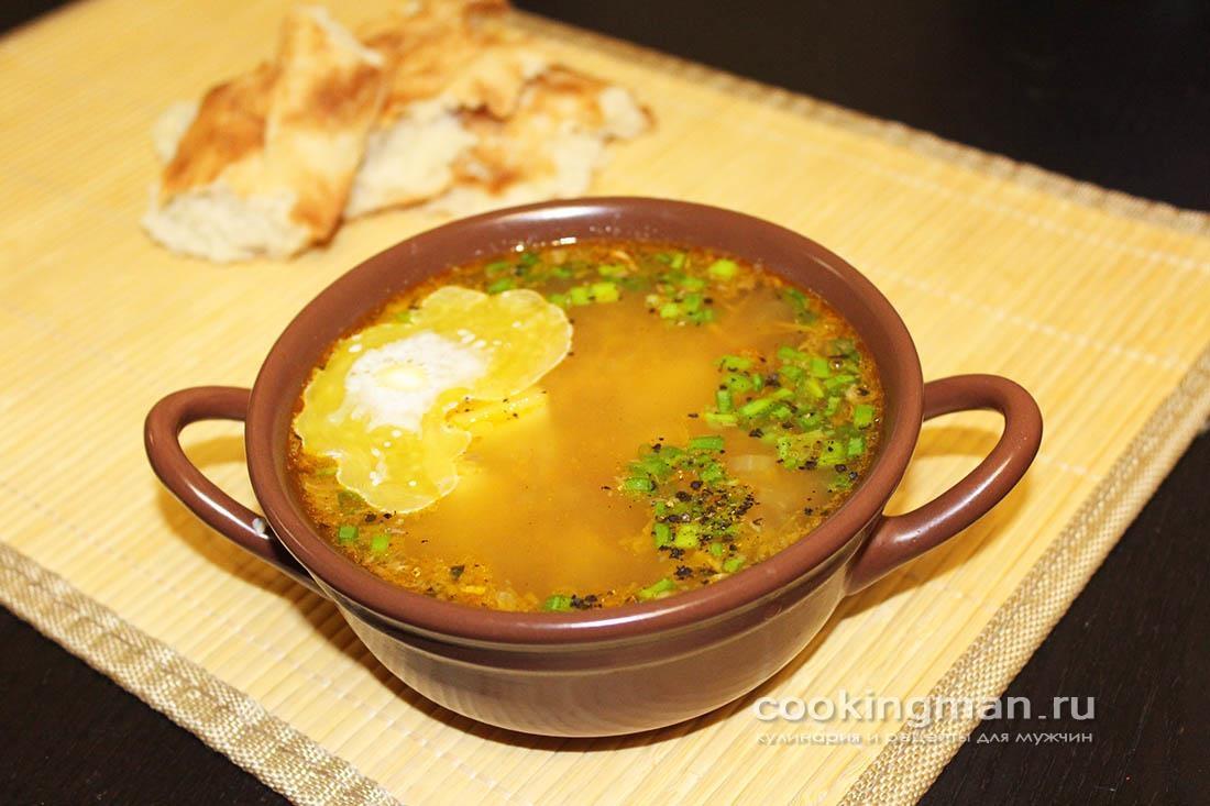 Суп из консервов (сайра)
