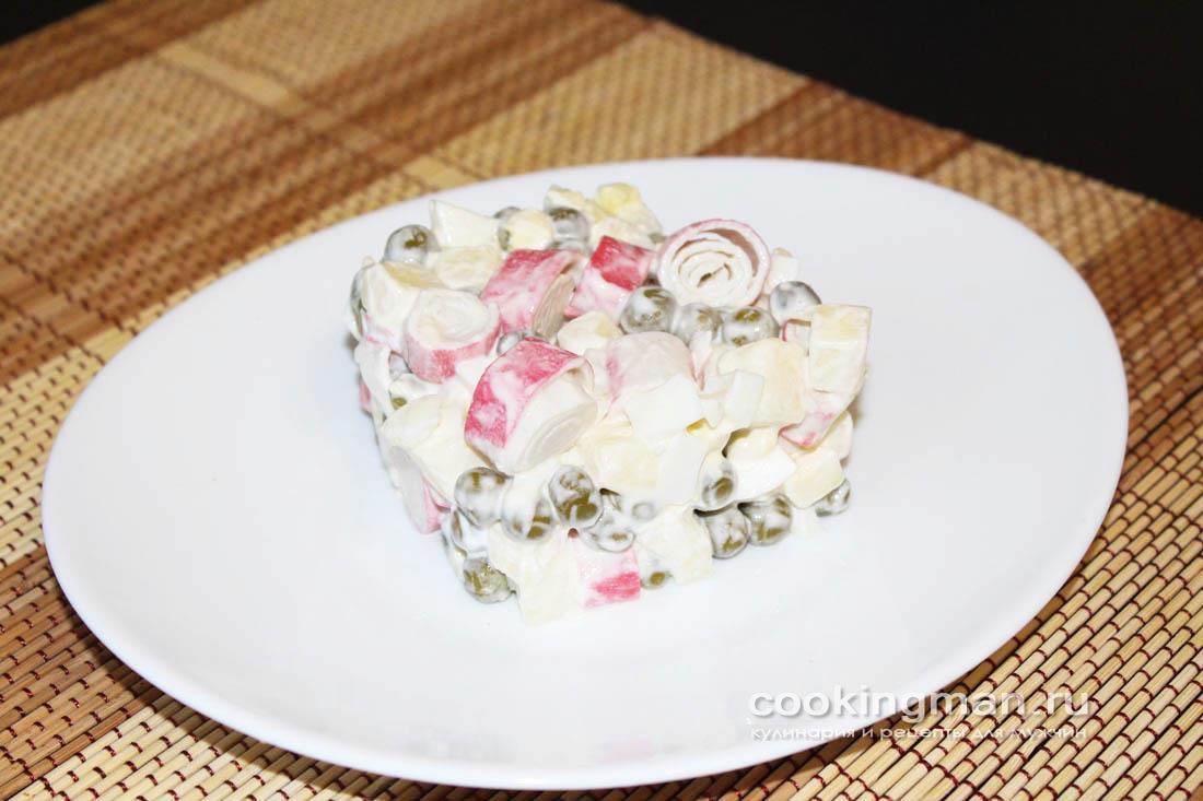 Салат из крабовых палочек и яблока