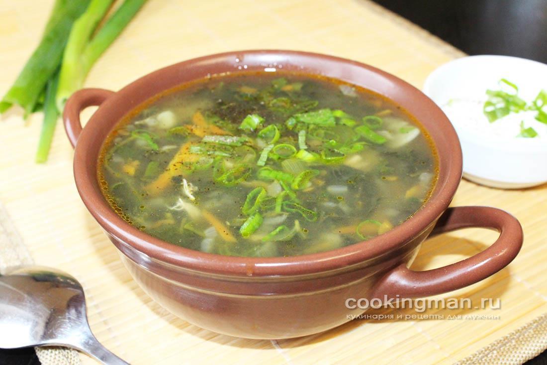 Суп из крапивы с курицей