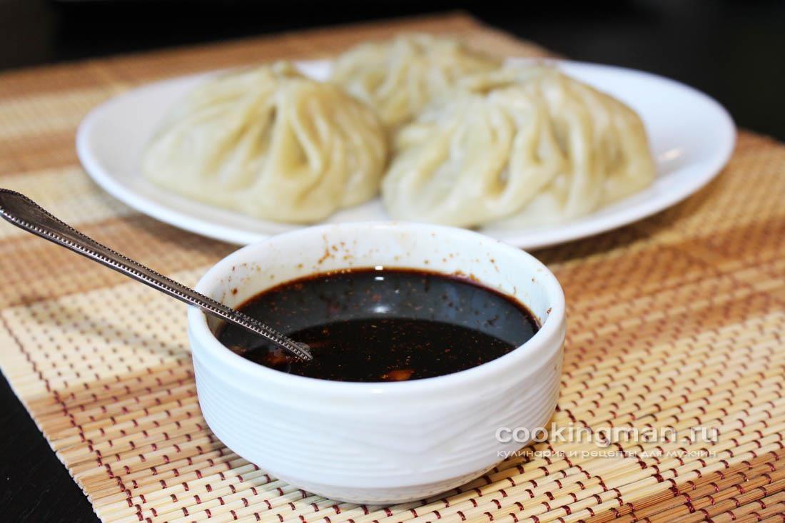 Соевый соус с чесноком к позам, мантам или пельменям