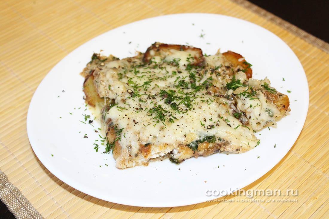 Осетрина в духовке под сыром