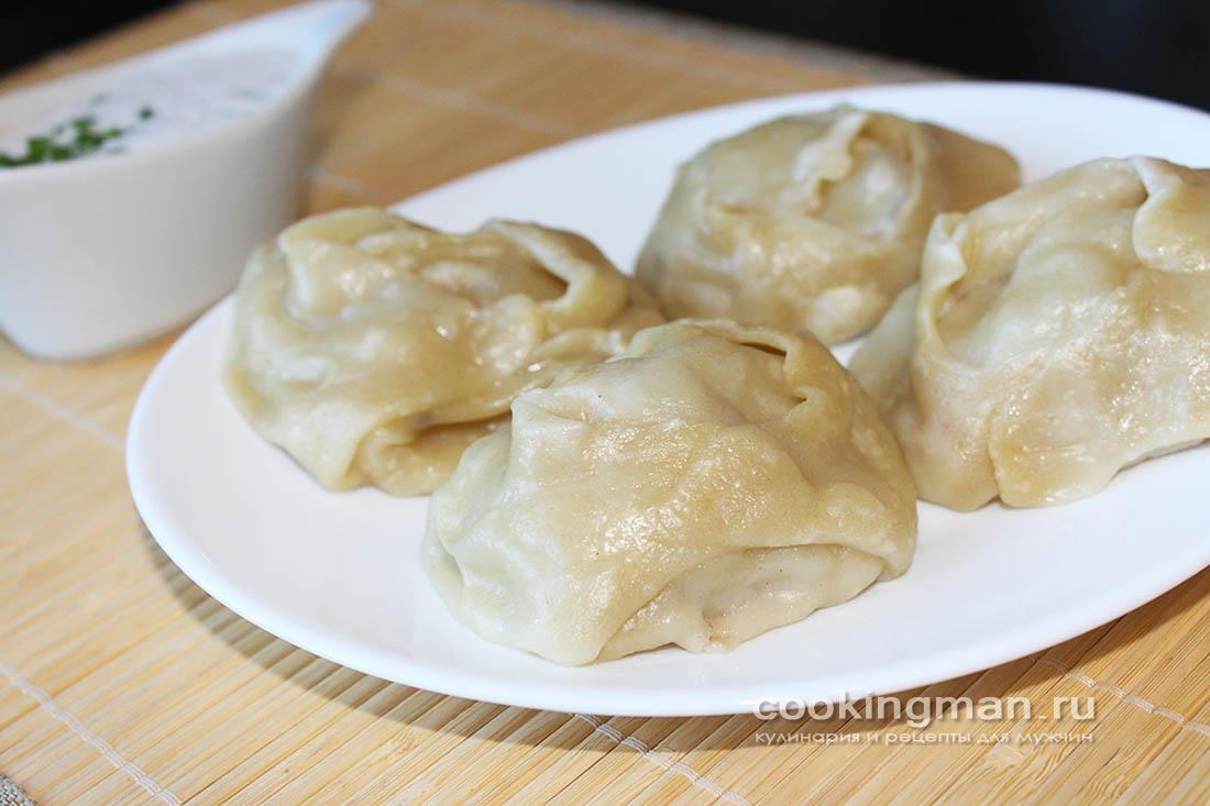Манты. Рецепт мантов из свинины, картошки и курдюка.